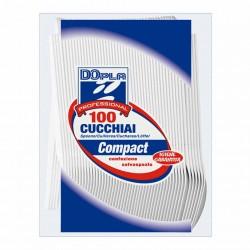 CUCCHIAI PLASTICA 100pz BIANCHI