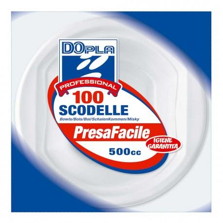 SCODELLE BIANCHE PLASTICA 500cc 100pz