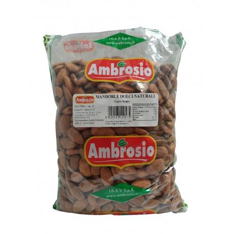 MANDORLE DOLCI CON PELLE NATURALI 1kg AMBROSIO