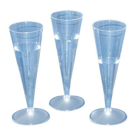 BICCHIERI PLASTICA FLUTES 20pz