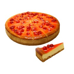 TORTA NEW YORK CHEESE CAKE CON FRAGOLINE PRETAGLIATA 1500gr